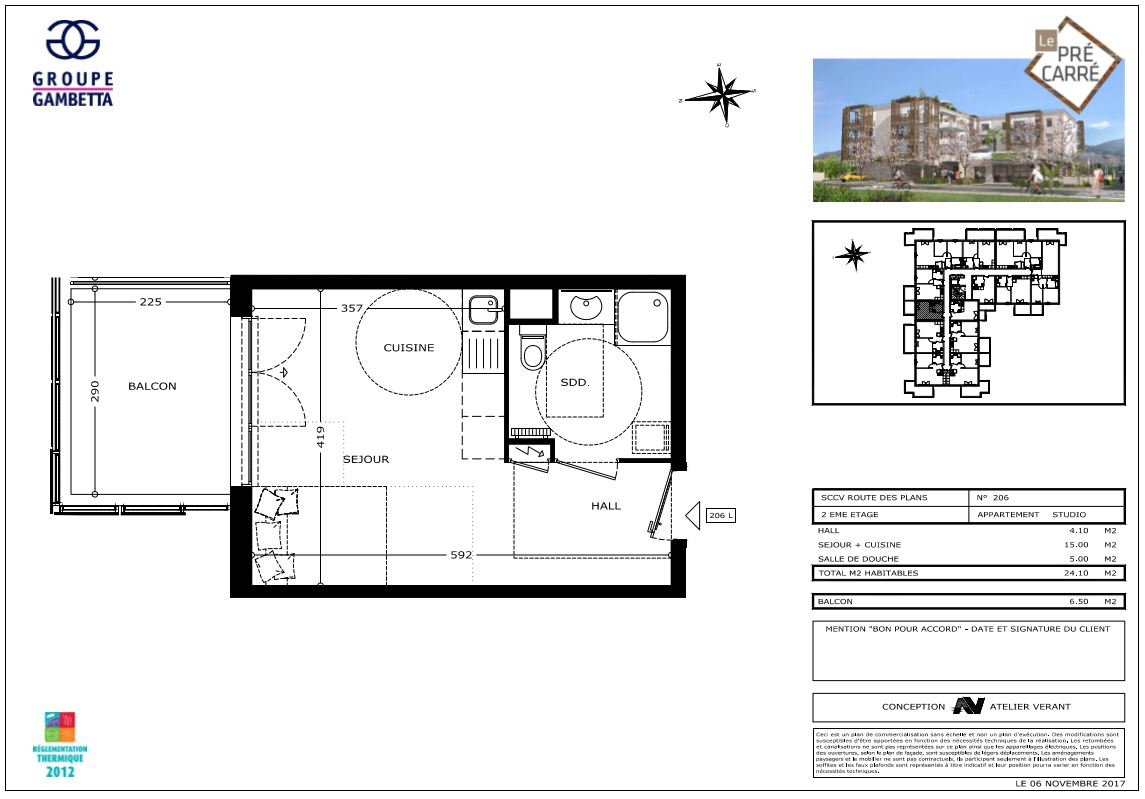 le pr carr programme immobilier neuf carros les plans 06 gambetta. Black Bedroom Furniture Sets. Home Design Ideas