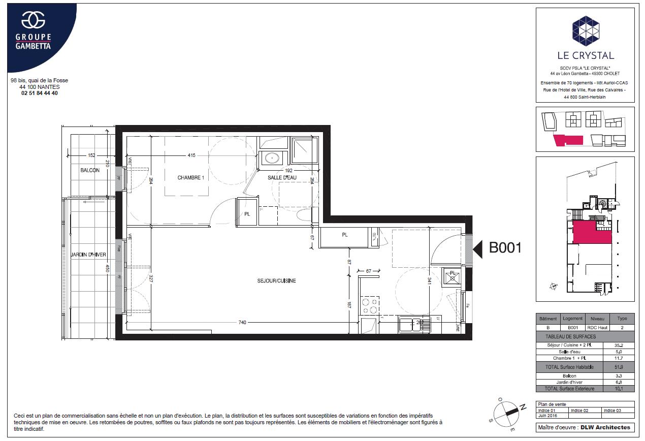 Appartement Avec Jardin Nantes le crystal : programme immobilier neuf à saint-herblain (44