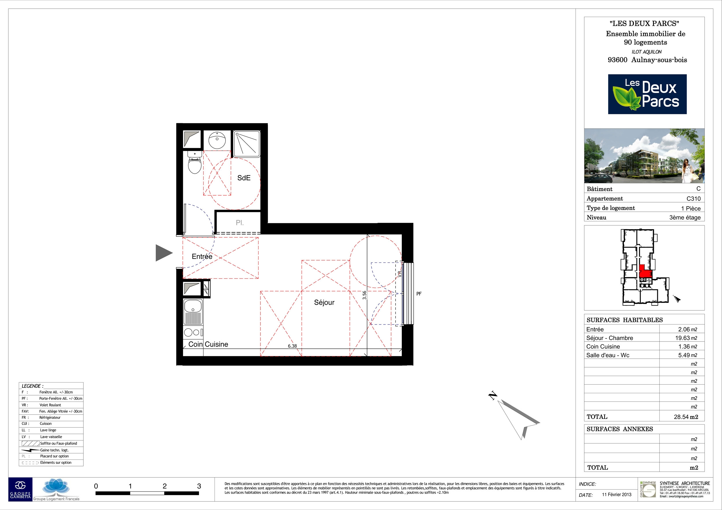 plan appartement 54m2